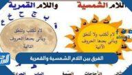 الفرق بين اللام الشمسية والقمرية