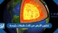 تتكون الأرض من ثلاث طبقات رئيسة