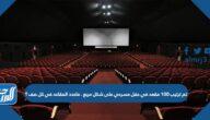 تم ترتيب ١٠٠ مقعد في حفل مسرحي على شكل مربع . ماعدد المقاعد في كل صف