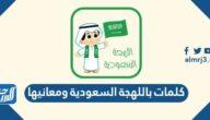 كلمات باللهجة السعودية ومعانيها