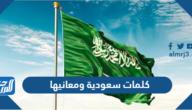 كلمات سعودية ومعانيها