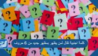 كلمة اجنبية تقال لمن يظهر بمظهر جديد من 6 حروف المرحلة 289