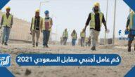 كم عامل أجنبي مقابل السعودي 2022