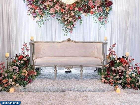 صور كوشات أعراس عصرية مع الستائر المنسدلة