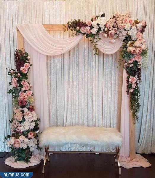 صور كوشات زفاف حديثة مع ستائر قابلة للطي