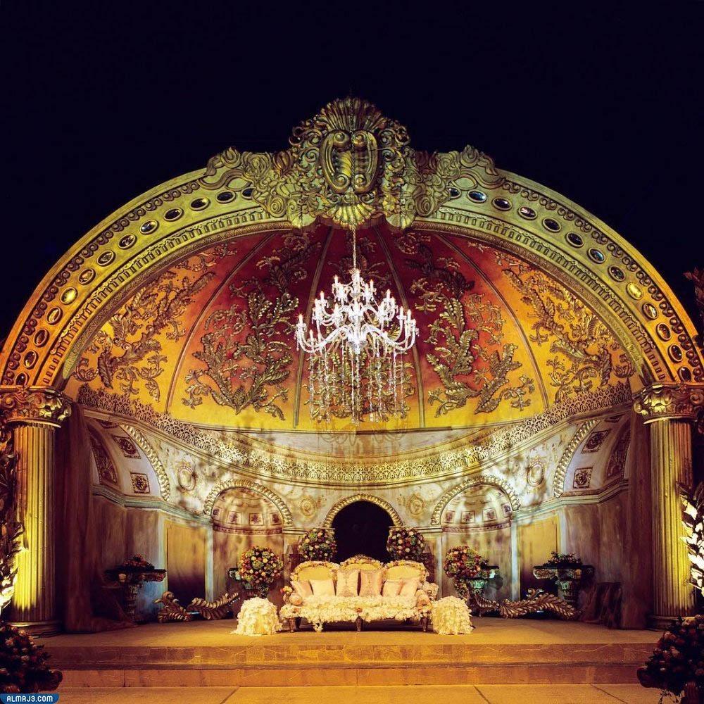 تصاميم كوشات أعراس مستوحاة من حفلات زفاف عربية