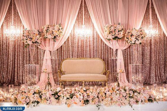 صور كوشات العرس مزينة بالورد