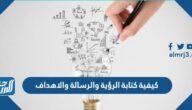 كيفية كتابة الرؤية والرسالة والأهداف
