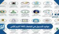 مواعيد التسجيل في الجامعات 1443 الترم الثاني